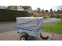 Maypole MP712 trailer 4ft x 3ft with 2 covers and top cage