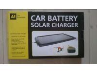 AA Solar-Powered Car Battery Charger - Bargain - Great Birthday, Christmas, Wedding Present