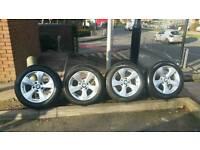 4×Genuine BMW 16 inch alloy wheels
