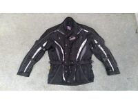 TUZ Textile Motorbike Jacket Size Large Winter Warm Black Motorcycle L