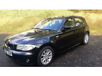 "BMW 116i se 2006 ""56"" 5 DOOR, BLACK, GREAT CONDITION & VERY CLEAN, 81K WITH FSH."