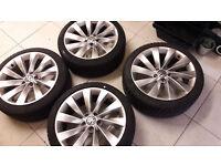 genuine audi vw turbine alloy wheels 18 inch
