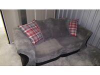 Big Grey Soft Cord Sofa