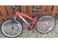 "Red 24"" framed Apollo Mountain Bike"