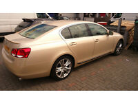 Lexus GS450, gold colour, 60k milage, Hpi clear, full service, 56 plate, 2006