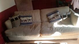 2 settees with cushions washable covers