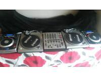 cdjs numark 900 x2 behringer mixer djx 700 gemini pt 2000 x2 450 vinyl