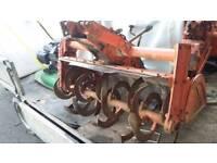 Kubota compact tractor rotavator