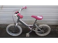 Bike for girl - first bike for a wee one - used condition - suit 5-6 year old