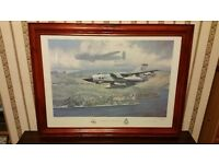 WW11 Plane picture, behind glass . 60 years of 617 squadron .