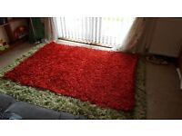 Beautiful Red Sparkle Rug