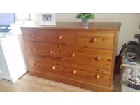 Very solid pine chest of 7 drawers. In very good condition. I can also arrange delivery if required
