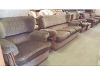 Sofa with Wooden Frame - Good Condition