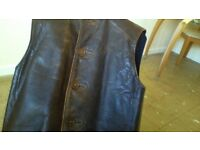 VERY OLD MANS LEATHER WAISTCOAT