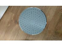 Large round rainfall shower head . Brand new unused