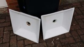 Bathroom sink/s - square counter top - buy pair or single