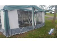 4 birth caravan with awning