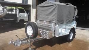NEW OFF ROAD H/D 1400KG 500MM HIGH SIDES TRAILER 7 X 4 WITH JERRY Glass House Mountains Caloundra Area Preview
