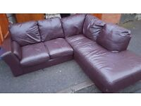 Brown Conner Leather sofa. FREE delivery in Derby
