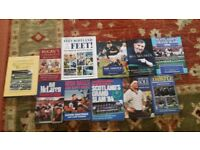 Various rugby books including autobiographies