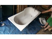 FREE P shape shower/bath and sink