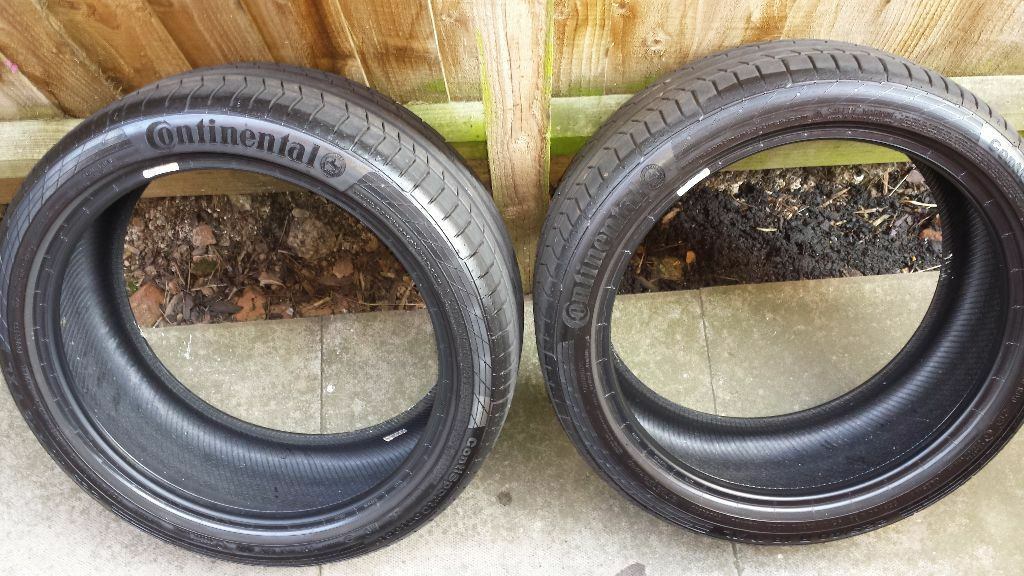 2 x continental contisport contact 5 tyres 225 40 r18 y xl. Black Bedroom Furniture Sets. Home Design Ideas