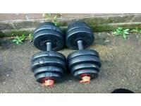2x15kg dumbbells for £15