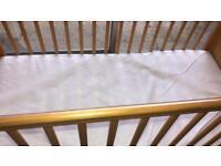 John Lewis cot & mattress