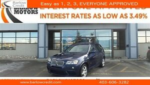 2013 BMW X3 xDrive35i - ///M Series - Two sets of Tires/Rims!