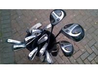 Full set of Donnay Golf Clubs and carry bag