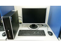 HP 8000 computer set, Intel Core 2 DUO 2.93GHz, 4GB, 250GB HDD, Windows 7 + monitor 19'' or 20''