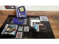 Purple Boxed Gameboy Color Console With Games Retro Switch