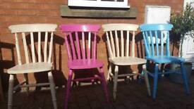 Soild pine dining chairs