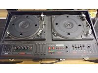 Retro Mcgregor twin turntable DJ console 200w rms