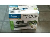 Swann CCTV Home and garden security self install kit (2 cameras, DVR + all cables) BNIB