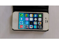 apple iphone4 working order not on icloud cracked screen but fully working