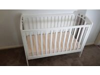 Cot with Mattress - Kiddicare KC49281 - Good Condition