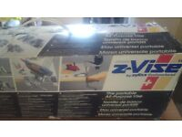 ZYLISS Z-VISE. THE PORTABLE ALL PURPOSE VICE. MULTI PURPOSE PORTABLE CLAMPING SYSTEM. NEW.
