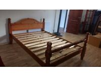 Beautiful solid pine double bed in excellent condition. I can also arrange delivery if required.