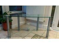 Glass tv stand. Two tier . Excelent condition