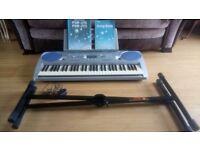 Yamaha PSR - 275 keyboard and stand