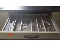 Ex-Display - Metal/Plastic expanding cutlery tray