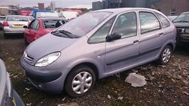 2002 CITROEN XSARA PICASSO SX 8V, 1.6 PETROL, BREAKING FOR PARTS ONLY, POSTAGE AVAILABLE NATIONIWDE