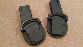 Urbo/Sola/Zoom Car Seat Adaptors - Maxi-Cosi Pebble, CabrioFix / BeSafe. Cybex Aton, Aton Q, Cloud Q