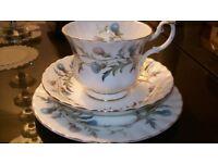 Royal Albert Brigadoon/thistle pattern 21 piece China Tea Set
