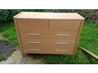 Solid large chest of drawers with missing handles
