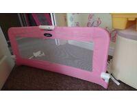 Baby start pink bed rail