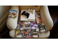 White 320GB PS3 console limited edition BUNDLE with two controllers and 11 games