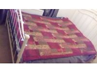 patchwork style throw for double bed