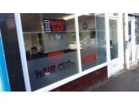 barber shop business lease for sale.